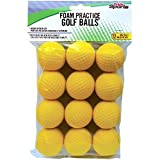 PrideSports Practice Golf Balls, Foam, 12 Count, Yellow (Sports)