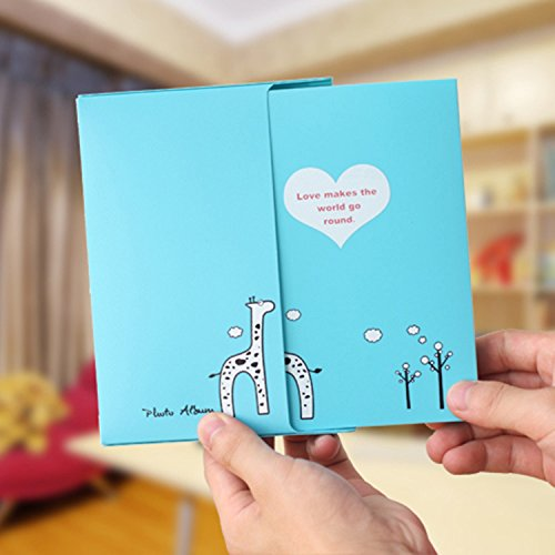 Blue Photo Album Diy Kits Baby Creative Family Newborn Gifts Lovers Memory Picture Albums 40 Photos - Photo Album 4x6 40 Photos