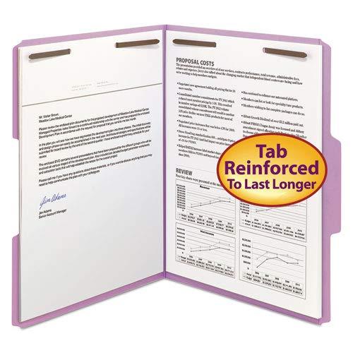 Folder, 2 Fasteners, 1/3 AST Tab Cut, Letter, 50/BX,Lavender, Sold as 1 Box, 50 Each per Box ()