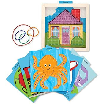 Melissa & Doug Stretch and Match Geoboard