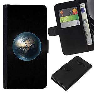 A-type (Spazio Pianeta minimalista Bubble) Colorida Impresión Funda Cuero Monedero Caja Bolsa Cubierta Caja Piel Card Slots Para Samsung Galaxy A3