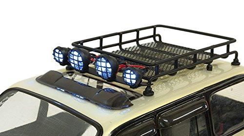 Rc 1 10 Metal Luggage Roof Rack W Led Light Bar Rc