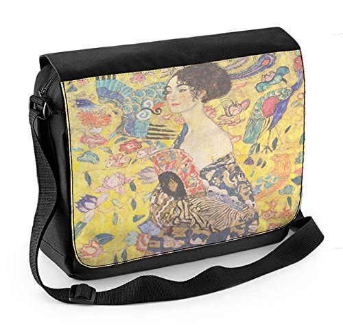 Bag Fan Klimt Tribal With T Laptop Lady shirts Womens Messenger Gustav xff6gwFvqS