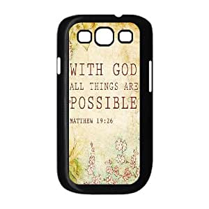 Bible Verse Use Your Own Image Phone Case for Samsung Galaxy S3 I9300,customized case cover ygtg619711