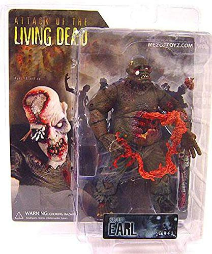 Attack of the Living Dead (Afterlife) Mezco Toyz Zombie Action Figure Earl Dark Skin Eyeball Popping Out Variant by Mezco