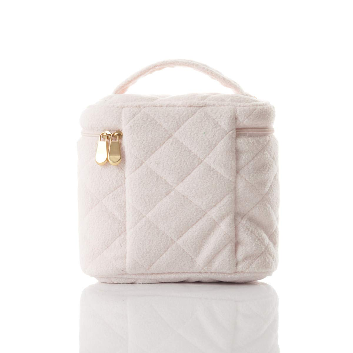 Wolegequ pearl velvet, velvet, velvet, ricami, manuale, cilindrica trousse, portatili portatrucco, la borsa, in borsa,rosa   Nuovi prodotti nel 2019    Acquisti online  e492d0