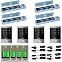 FPC-5135 Visionis Four Door Access Control Kit for Outswinging door 600lbs Electromagnetic lock with Outdoor Keypad and Exit Button