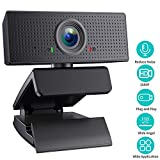 SAITOR 1080P Webcam, Built-in Microphones, Full HD Video Camera for Computers PC Laptop Desktop, USB Plug and Play, Skype