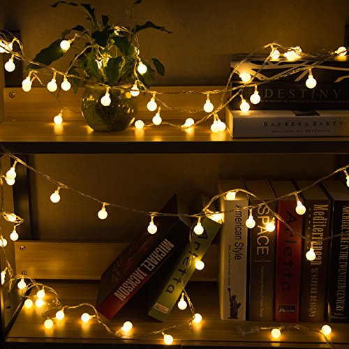 Decorative Led Lights (Globe String Light, YMing 33Ft 100 LED Starry Light Fairy Light, Indoor Outdoor Decorative Ball String Light for Patio,Garden,Wedding,Xmas Party(Warm White))