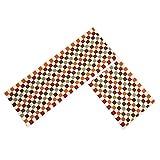 EUCH Non-slip Rubber Backing Carpet Kitchen Mat Doormat Runner Bathroom Rug 2 Piece Sets,17''x47''+17''x23'' (Red Mosaic)