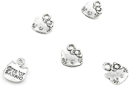 30pcs Charm Love My Cat Heart Pendant Craft Connector Findings Jewelry Making