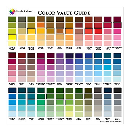 Color Wheel Magic Palette Artists Color Value Guide,Multi