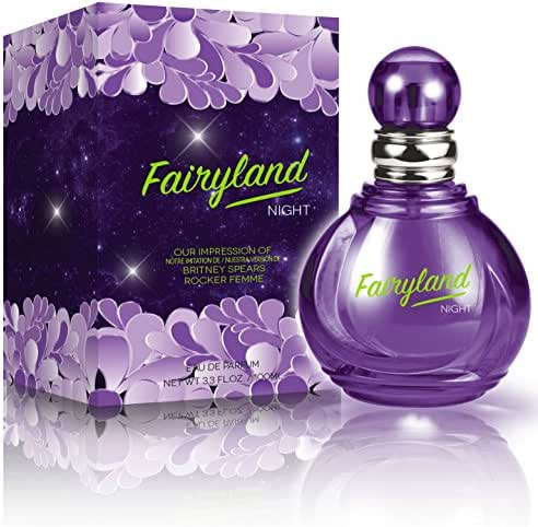 Fairyland Night Eau De Parfum Spray for Women,3.3 Ounces 100 Ml - Impression of Britney Spears Rocker Femme Fantasy