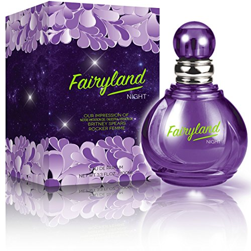 Fairyland Night Eau De Parfum Spray for Women,3.3 Ounces 100 Ml – Impression of Britney Spears Rocker Femme Fantasy