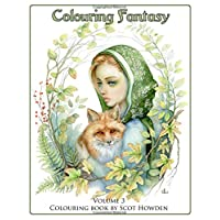 Colouring Fantasy Volume 3: Colouring Book By Scot Howden