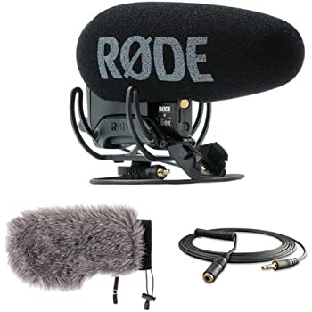 Rode VideoMic Pro Plus On-Camera Shotgun Microphone with Windbuster for Rode VideoMic Pro & Mini Male to Stereo Mini Female Cable