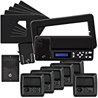 IST RETRO Music & Intercom System Package, 5 Rooms (Horizontal Frames), Black