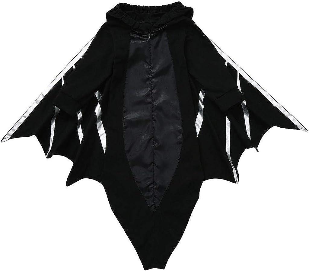 Franterd Baby Halloween Costume Newborn Halloween Cartoon Bat Romper Sleeping Bag Hooded Swaddle Blanket Sack for Photograph