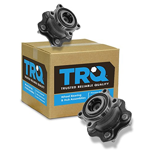 (TRQ Wheel Bearing & Hub Assembly Rear Driver & Passenger Pair for Altima Maxima)