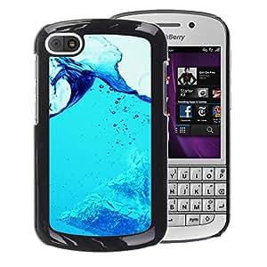 For BlackBerry Q10 Case , Blue Water Splash - Diseño Patrón Teléfono Caso Cubierta Case Bumper Duro Protección Case Cover Funda