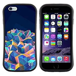 "Pulsar iFace Series Tpu silicona Carcasa Funda Case para Apple (4.7 inches!!!) iPhone 6 / 6S (4.7 INCH) , Azul del trullo púrpura anaranjada rosada"""