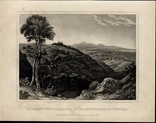 mafra-cintra-mountains-landscape-view-spain-scarce-1817-antique-engraved-print