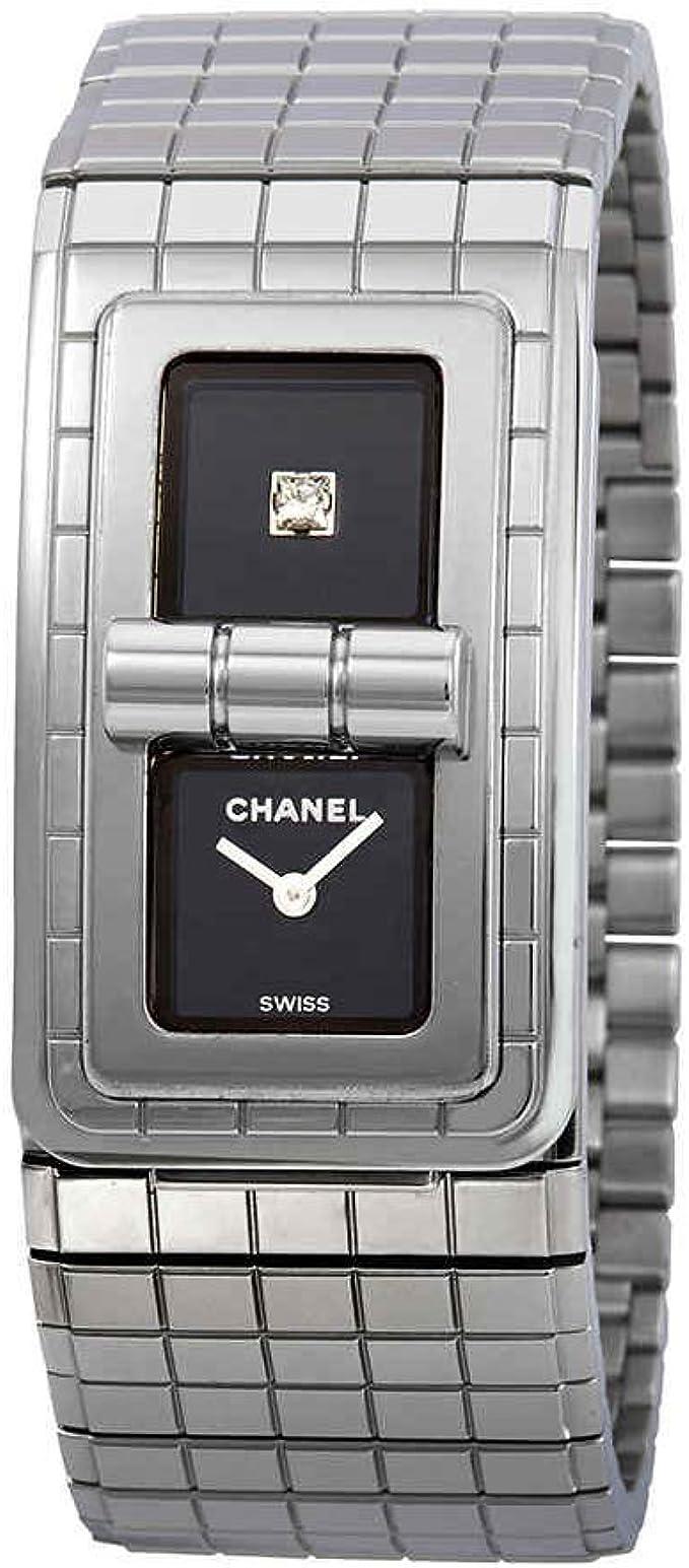Chanel código Coco lacado en negro Dial Damas Reloj h5144: Amazon.es: Relojes