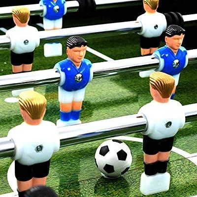 mewmewcat Futbolín Profesional de Acero Futbolín de Mesa 60 kg ...