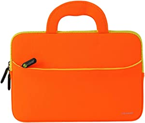 11.6 inch Laptop Case Laptop Sleeve Bag Lightweigh Slim Computer Carrying Case Compatible for Notebook and Computer Protective Case (Orange)