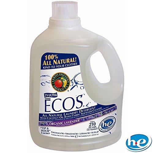 Ecos Liquid Laundry Detergent Lavender - 2 Ct. - 210 Oz. Ea. - 420 Loads by ecos