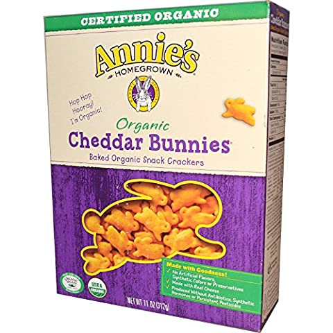 Annie's Homegrown, Organic, Cheddar Bunnies, Baked Snack Crackers, 11 oz (312 g) - 2PC