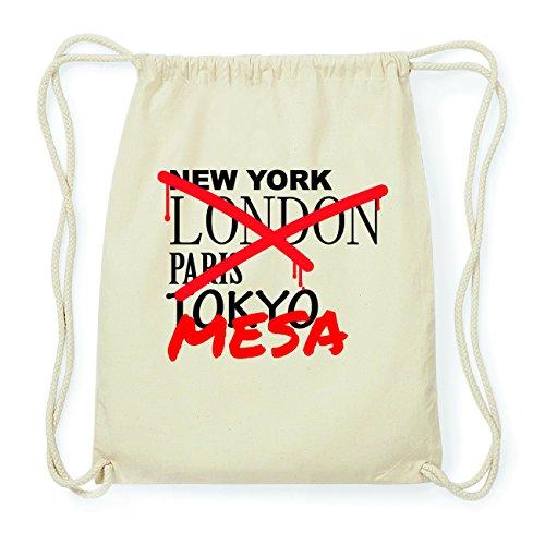 JOllify MESA Hipster Turnbeutel Tasche Rucksack aus Baumwolle - Farbe: natur Design: Grafitti HLeWR8IT