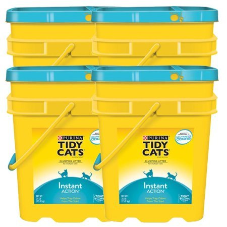 Purina Tidy Cats 35 lb. Pail, Multiple Cat Clumping Cat Litter Instant Action, 4 Pack by Purina Tidy Cats