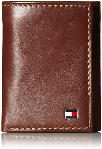 Tommy Hilfiger Men's Logan Trifold Wallet with Zipper