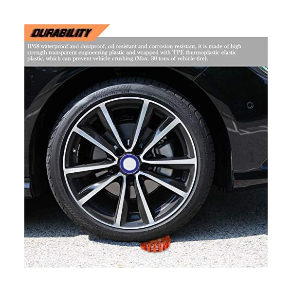 Indicadores luminosos de seguridad LED para carretera Luces de seguridad recargables para el automóvil 9 modos Linterna… 14