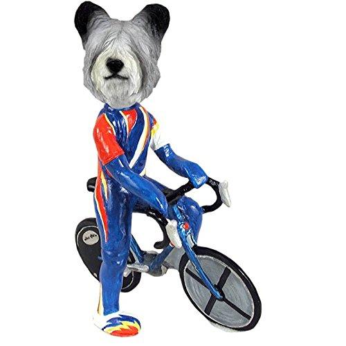 (Skye Terrier Bicycle Doogie Collectible Figurine)