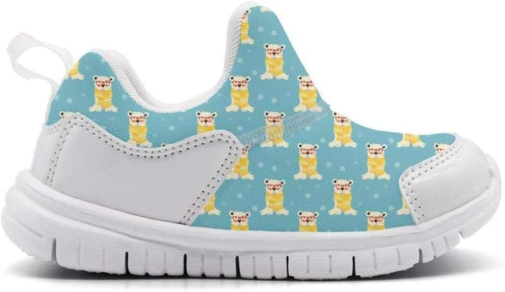 ONEYUAN Children Polar Bear with Glasses Kid Casual Lightweight Sport Shoes Sneakers Running Shoes