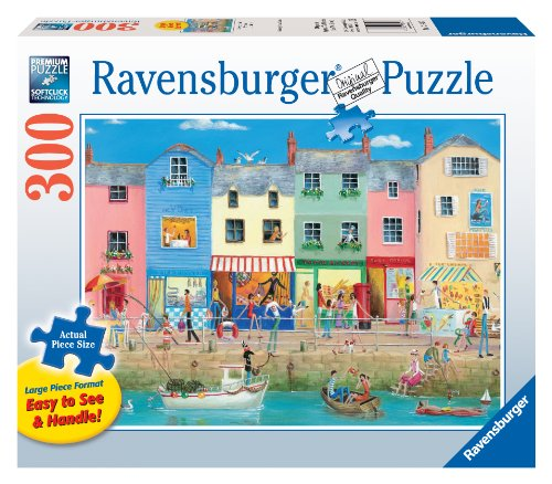 (Ravensburger Down by The Sea Large Format 300 Piece Jigsaw Puzzle for Adults – Every Piece is Unique, Softclick Technology Means Pieces Fit Together Perfectly)