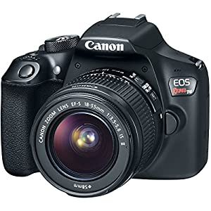 Canon EOS Rebel T6 Digital SLR Camera with 18-55mm is II Lens Kit 1878C001 Metallic Gray and Two (2) 16GB SDHC Memory…