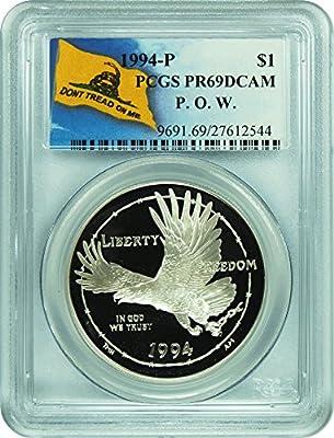 1994-P P.O.W Museum Silver Dollar Commemorative PCGS PR-69 DCAM 138119