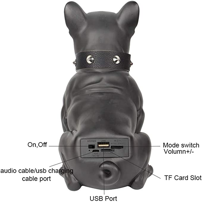 Hyrl Bulldog Lautsprecher Tragbare Bluetooth Lautsprecher Drahtlose Lautsprecherunterstützung Tf Karten Stereoanlage Für Tv Computer Phone Desktop Weiß Küche Haushalt