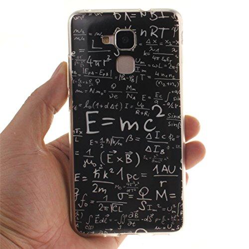 Honor Cas Motif Cas Bord Peint Equation Huawei 5C En Fit De Couverture Honor Arrière Slim Scratch lite Silicone TPU 7 Hozor Protection De Résistant Antichoc Souple Transparent Téléphone q05YwR
