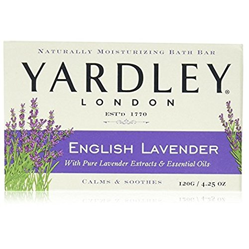Yardley London Moisturizing Bar English Lavender with Essential Oils 4.25 oz (Pack of 3)