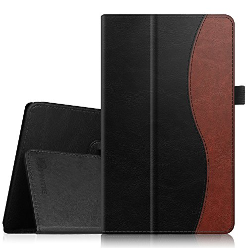 Fintie Folio Case for Amazon Fire HD 8 (Previous Generation - 6th) 2016 Release - Slim Fit Premium Vegan Leather Standing Protective Cover with Auto Wake/Sleep, Dual Color