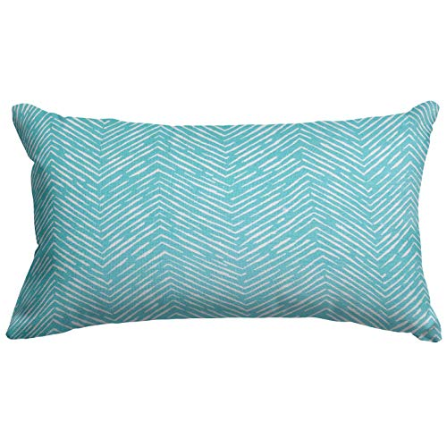Majestic Home Goods Teal South West Indoor / Outdoor Small Throw Pillow 20