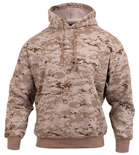 Rothco Pullover Hooded Sweatshirt, Desert Digital Camo, X-Large