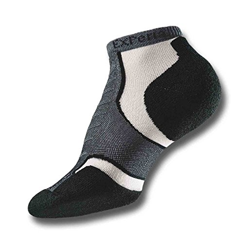 Thorlos Unisex Micro Mini-Crew Socks, JET GREY, XLARGE