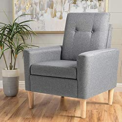 related image of Shintenchi Modern Accent Chair, Linen Single Sofa