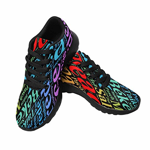 InterestPrint Womens Jogging Running Sneaker Lightweight Go Easy Walking Comfort Sports Running Shoes Peace Word Cloud In Different Languages Multi 1 sEFIGSdX6