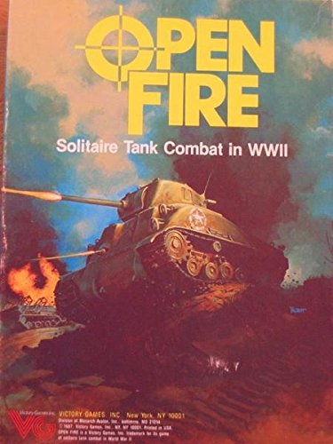 amazon com open fire game of solitaire tank combat in wwii box